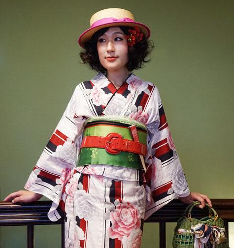浴衣着付け写真(神戸異人館)1