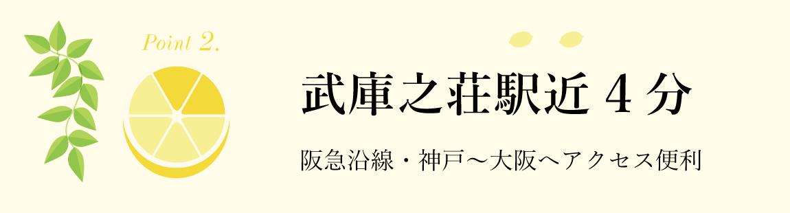 2.武庫之荘駅近4分