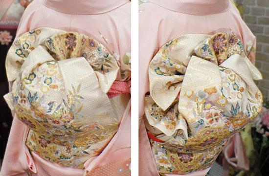 結婚式に映える着物の帯結び写真