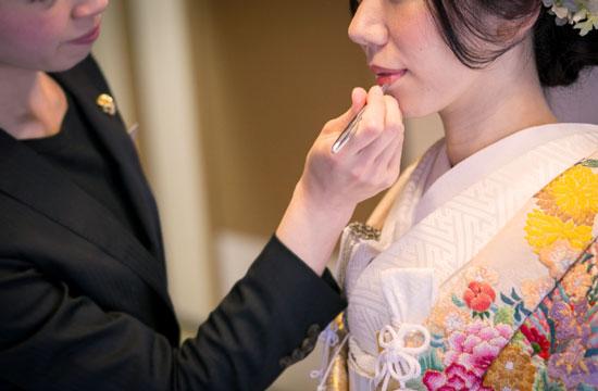 結婚式の打掛着付け&メイク写真