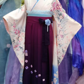 大学卒業式袴レンタル着付け写真