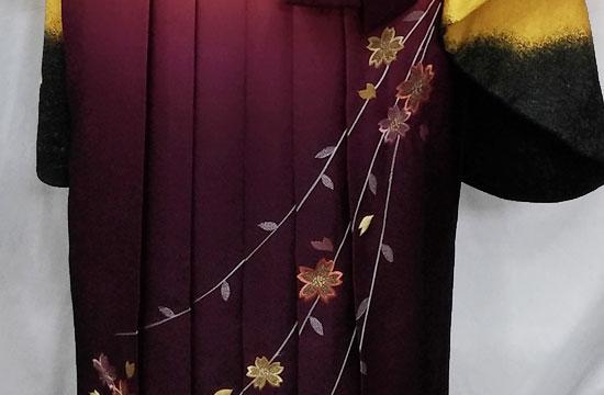 袴のきれいな花柄写真