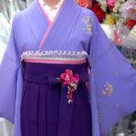 紫色の袴着付け写真