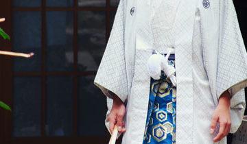 成人式男袴着付け写真