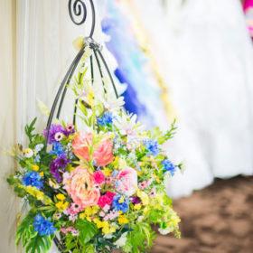 店頭の花写真