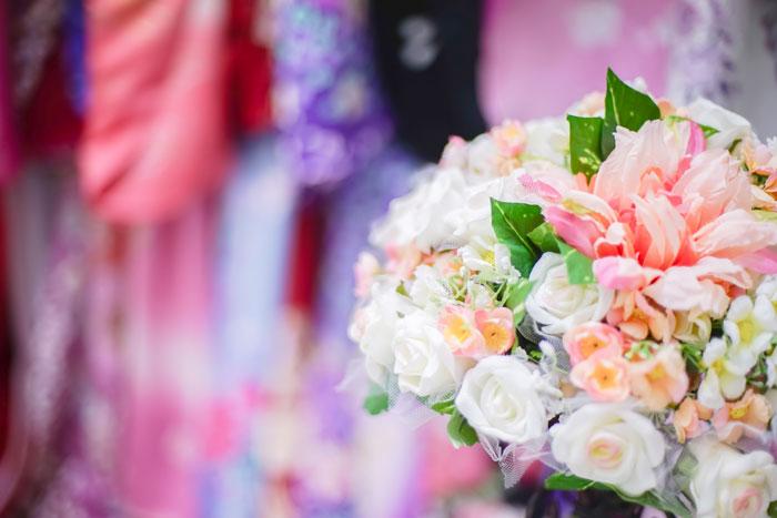 花と着物写真