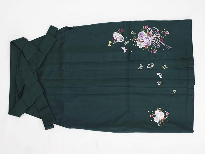 緑袴画像・無地刺しゅう柄