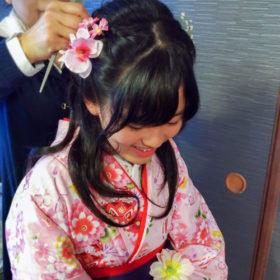 袴レンタルヘアセット中