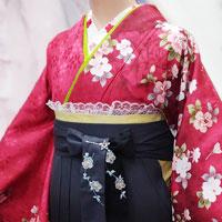 小学生女の子袴着付け写真