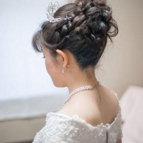 ウェディングヘアアップ髪型