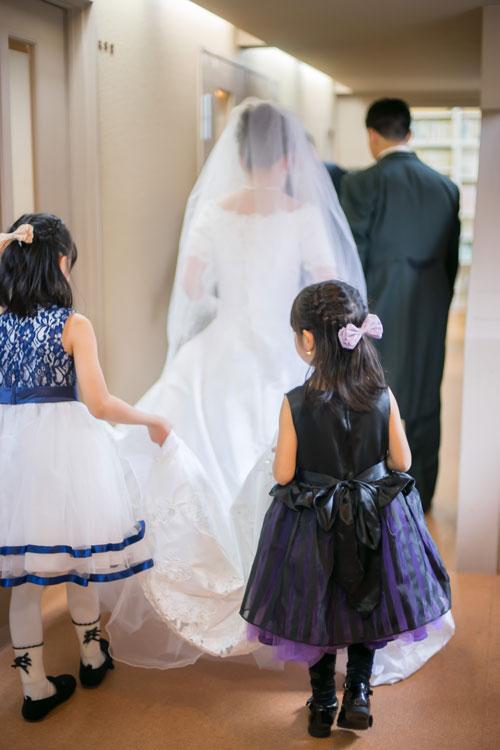 結婚式ウェディングドレス姿