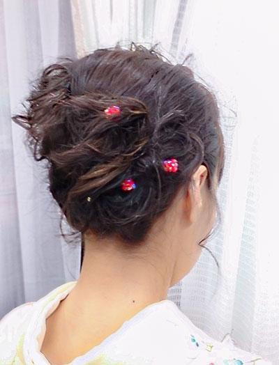 先生袴の髪型