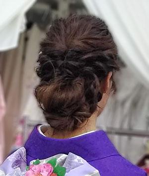 洋風なまとめ髪写真