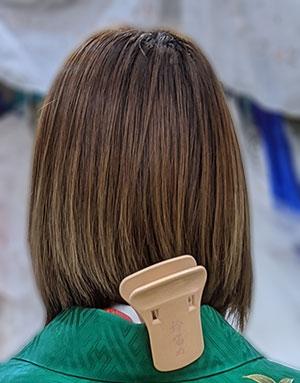 ミディアムボブのヘアスタイル
