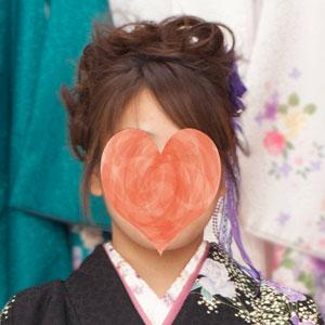 袴の髪型アップスタイルの前から見た時