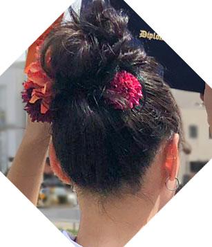 袴のお団子ヘアの髪型