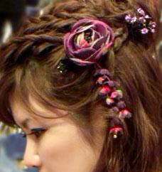 フェルト素材袴の髪飾り