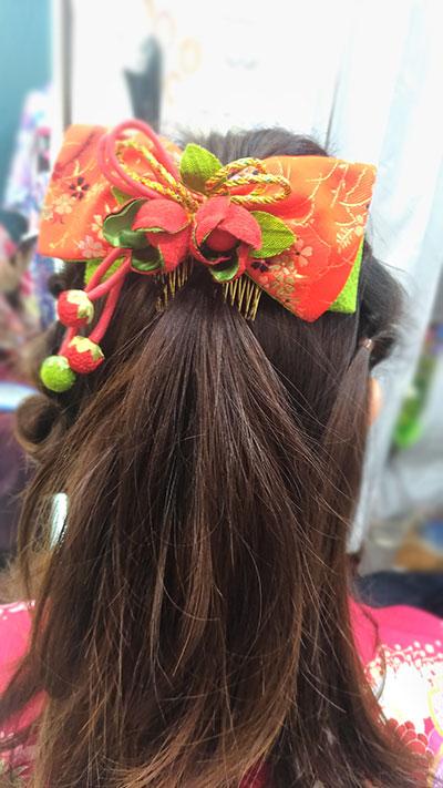 袴の髪型にハーフアップ
