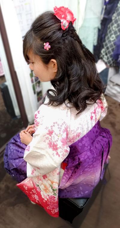 小学生袴の髪型ハーフアップヘア