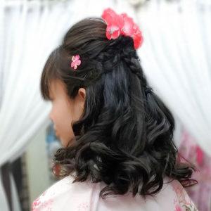 小学生袴の髪型ハーフアップ