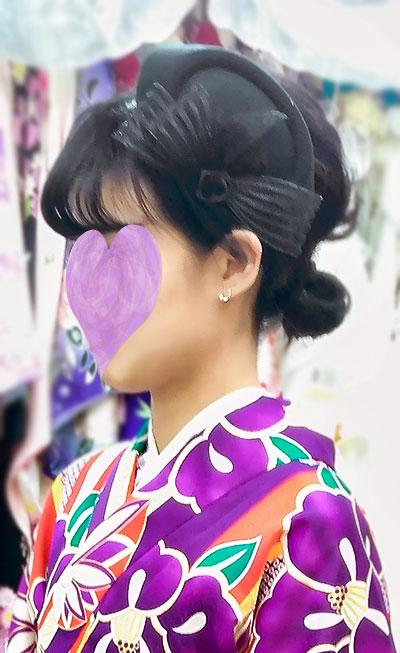 モダン袴に帽子コーデ