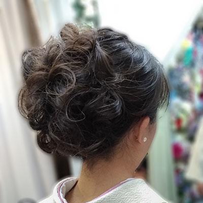 先生袴の髪型アップヘア