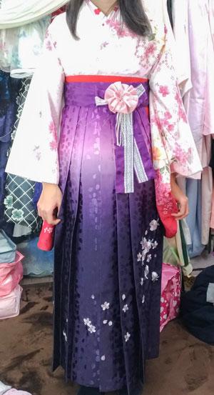 小学生卒業式袴試着写真