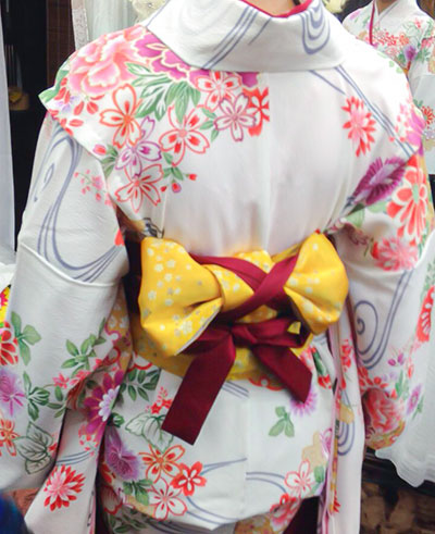 小学生袴の着付け写真