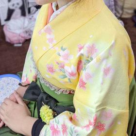 黄色袴レンタル・着物写真