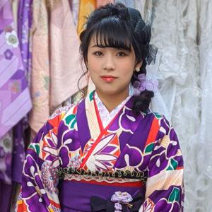 袴レンタルレトロ紫色