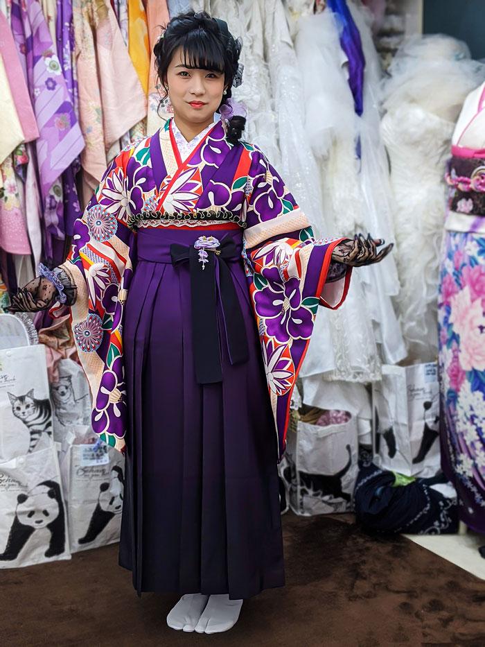 袴レンタルレトロの着付け写真
