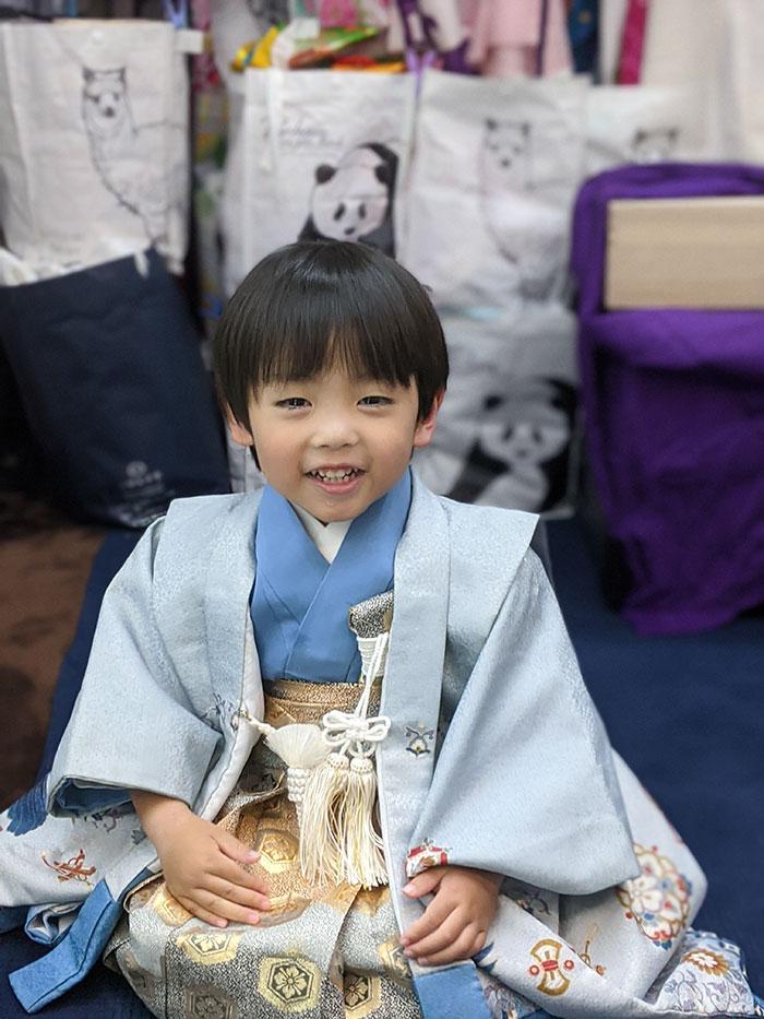七五三ブルー袴の男の子